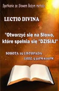 LECTIO DIVINA - LISTOPAD 2014
