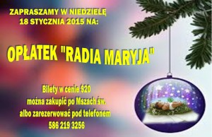 OPLATEK RADIA MARYJA 2015