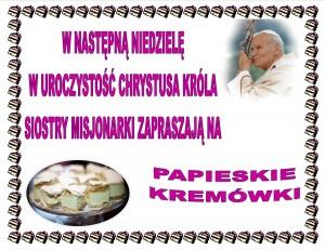 PAPIESKIE KREMOWKI -2014